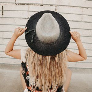 OMBRE WOOL PANAMA HAT